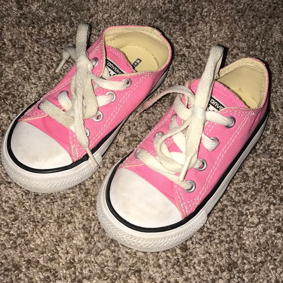 d367239552b3 Converse Other - Toddler girls size 6 pink converse shoes